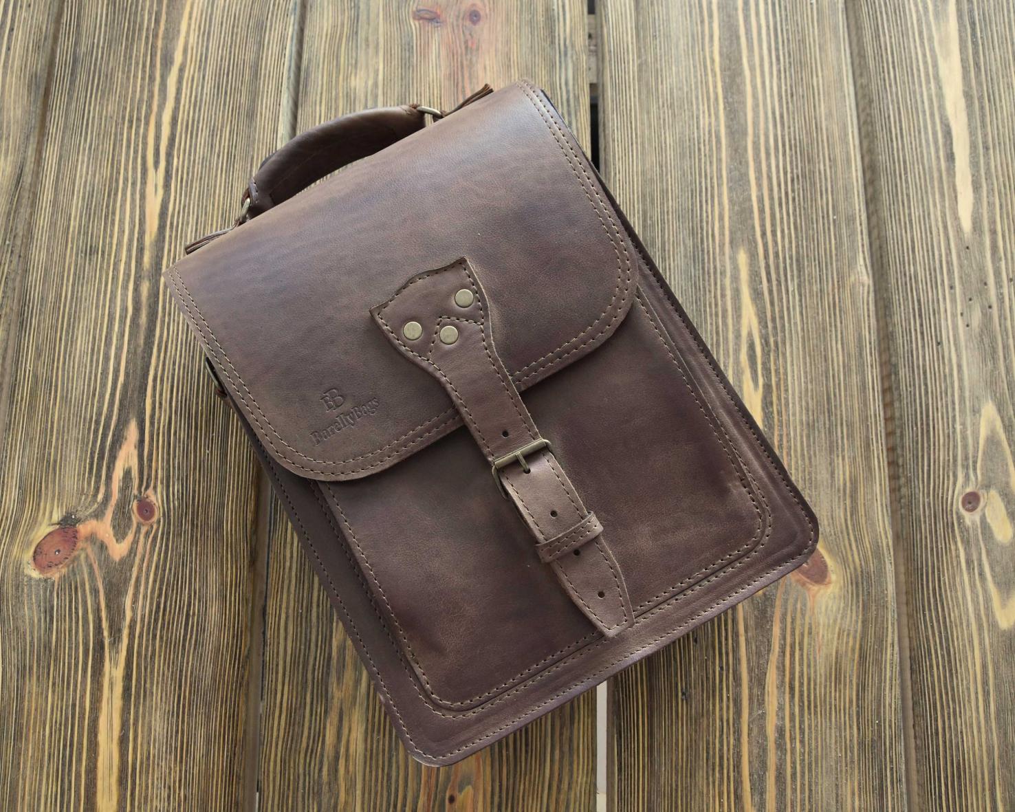 883ea774f14cf ... Kansas Mini Raportówka skórzana torba męska ...