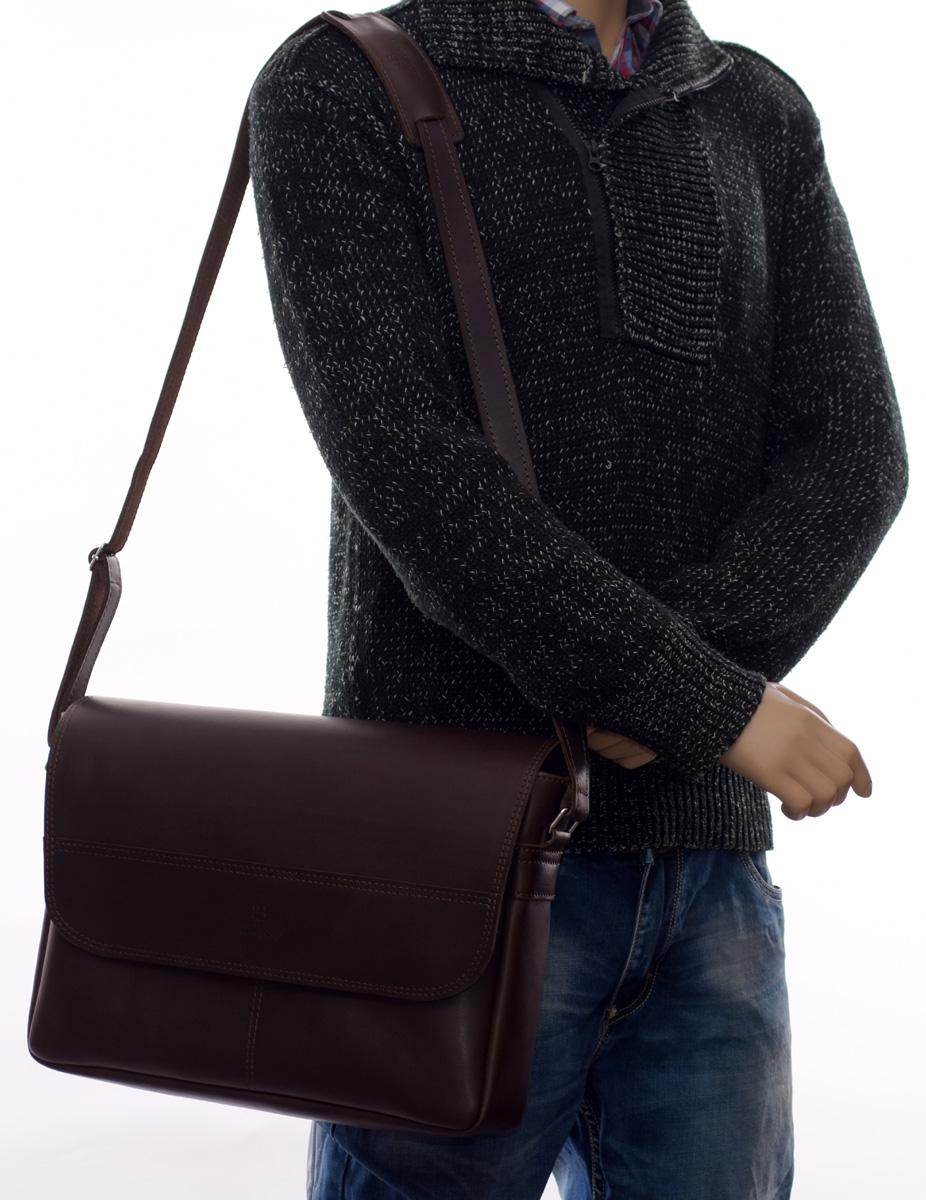 Texas elegancka torba skórzana męska, miejska i klasyczna